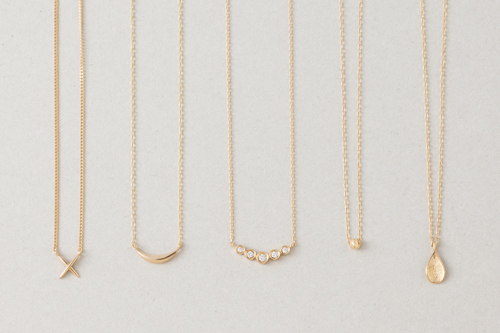 K18 Layer necklace collectionの写真