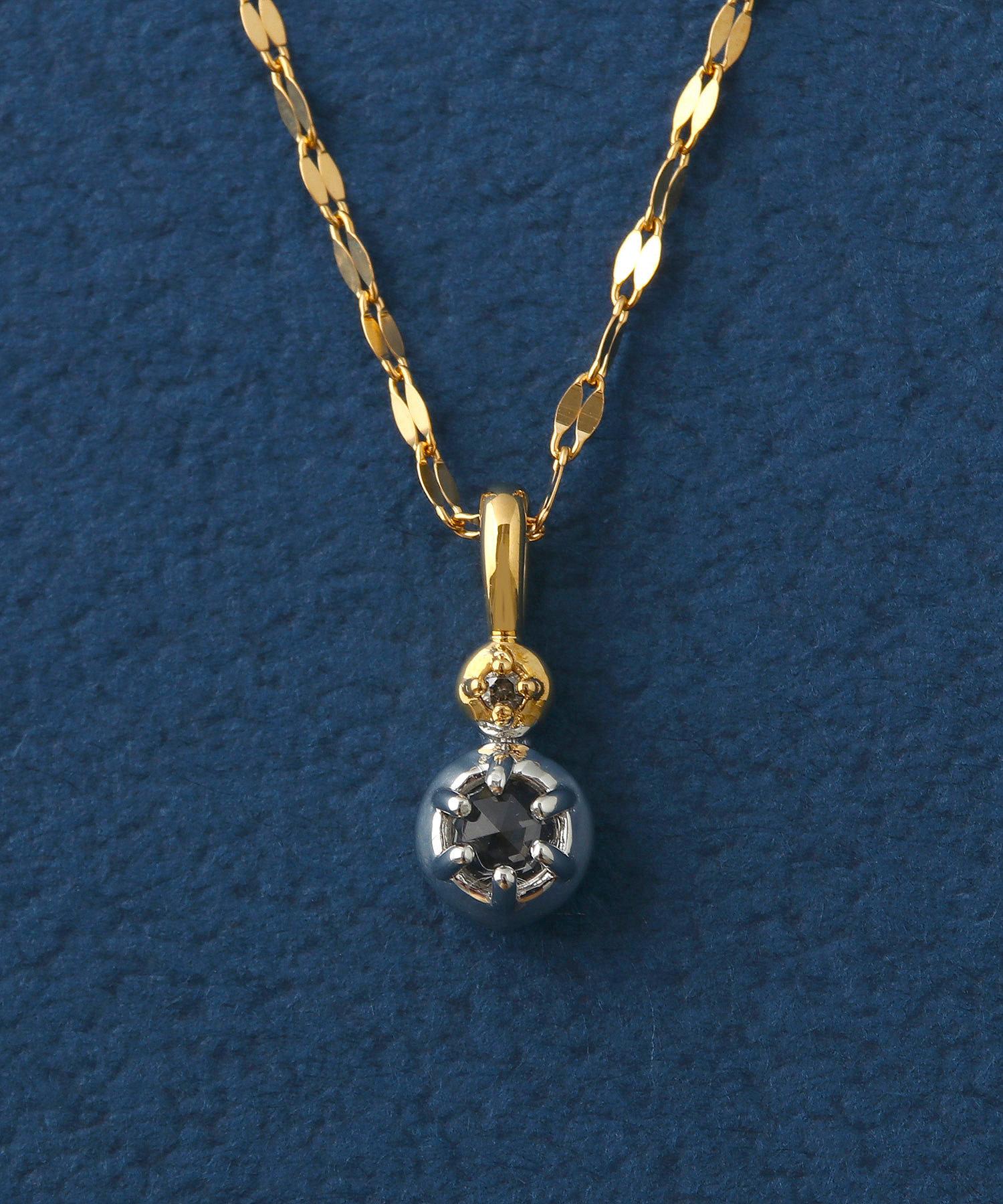 2018 Xmas Limited【ドリームデイ】ブラウンダイヤモンド×ホワイトトパーズ ネックレスの写真