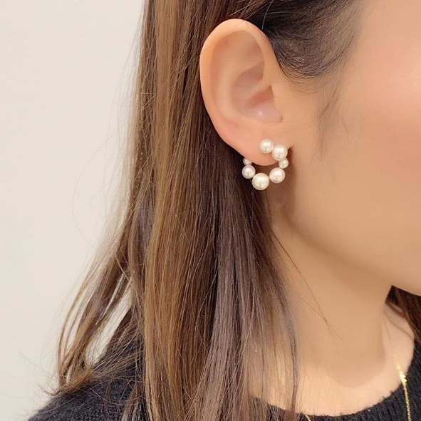 Circle earring collectionの写真